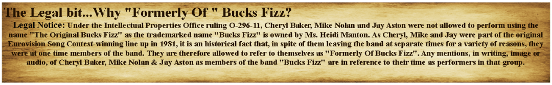 Buck Fizz Trademark Explainer Of Legal Issues Click To Enlarge