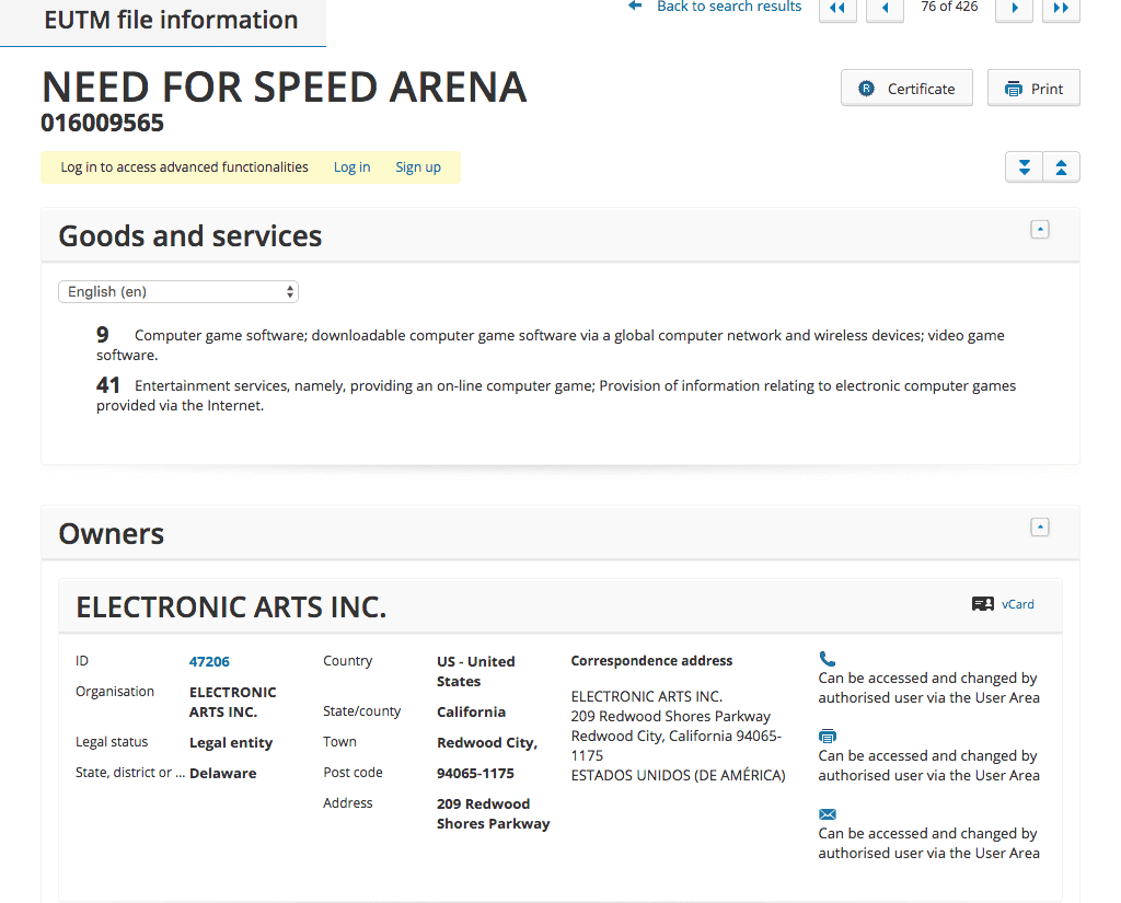 Ea Applies For %22need For Speed Arena%22 Trademark Ea Ea Needforspeed Arena Needforspeedarena