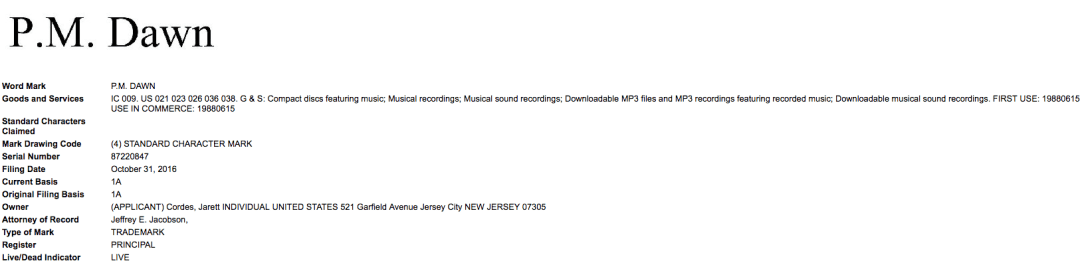 Pm Dawn Trademark Application Filed In The Us Pmdawn Pmdawn