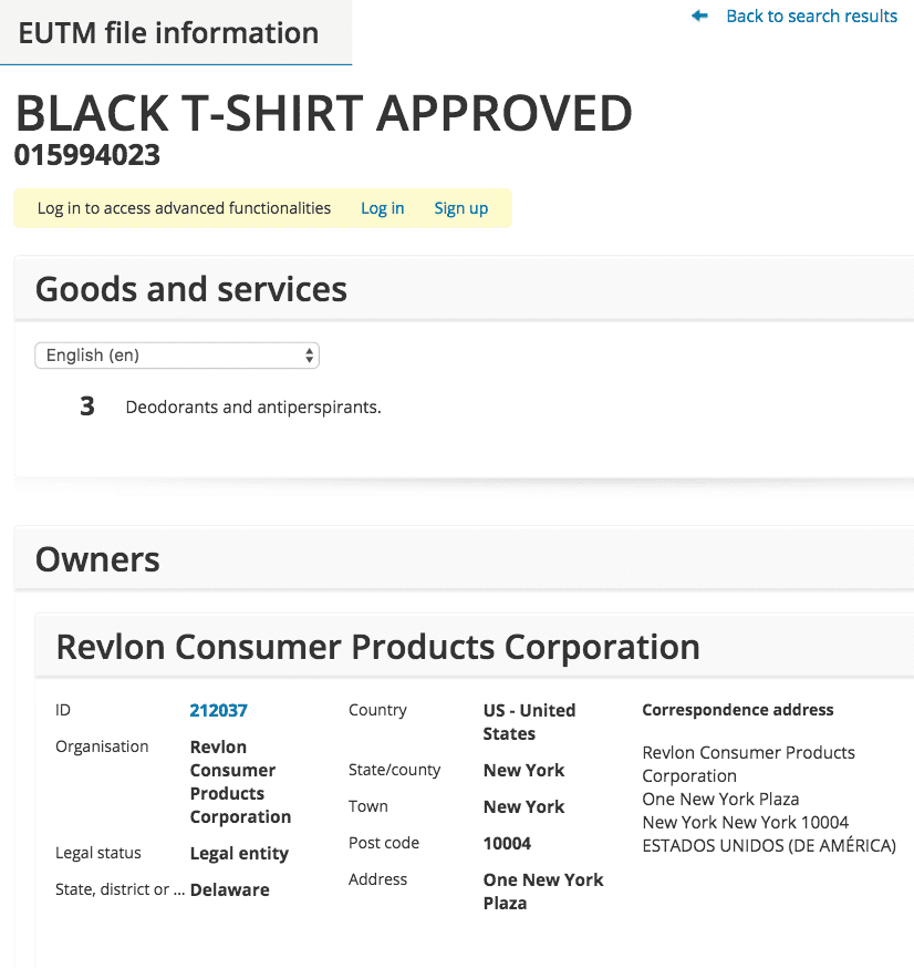 Quite Clever From Revlon For Deodorants The Trademark Black T Shirt Approved