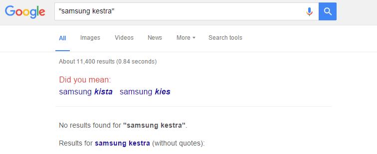 Samsung Kestra Google Knows Nothing