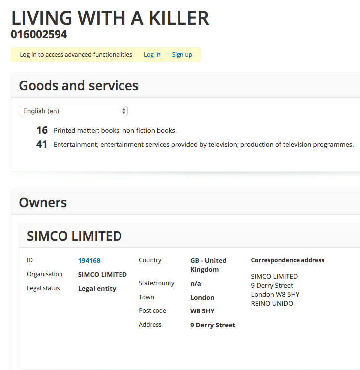 So Simoncowells Production Company Simco Applies For Trademark For Living With A Killer