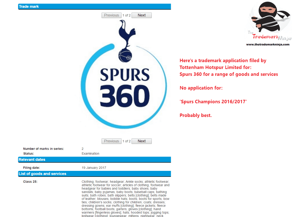A trademark application was filed in the UK last week by <a href=http://twitter.com/spursofficial target=_blank rel=nofollow data-recalc-dims=1>@spursofficial</a> for Spurs360 Spurs