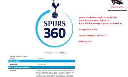 A trademark application was filed in the UK last week by @spursofficial for Spurs360 Spurs