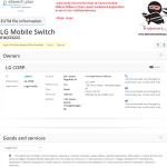 LG have applied for an EU trademark for LG MobileSwitch WalkieTalkie