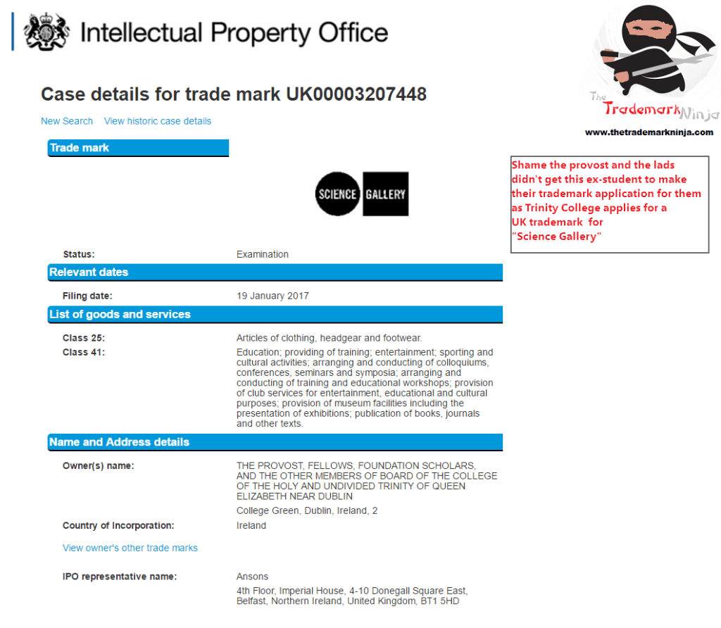 Trademark UK Application made by <a href=