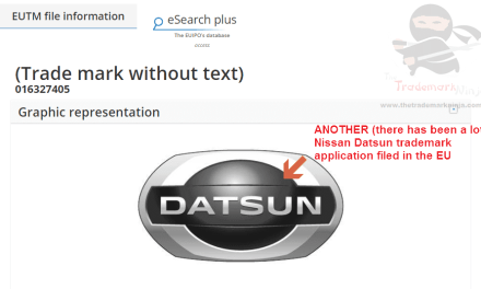 Another EU Trademark application for the @Nissan @Datsun Nissan Datsun NissanDatsun