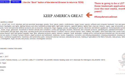 Another KeepAmericaGreat trademark application