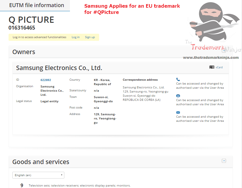 Another say another @Samsung Trademark application this time for QPicture