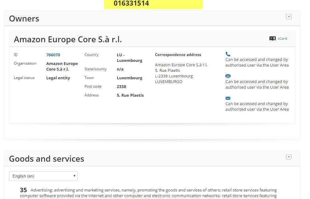 EU Trademark application for AppyFamilies Amazon @AmazonUK @Amazon