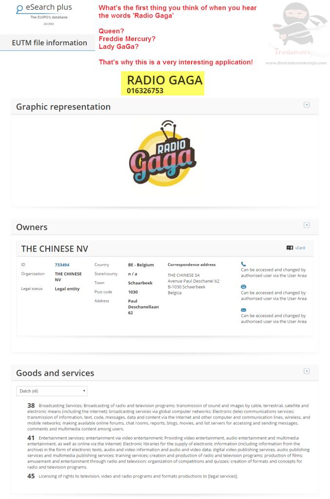 EU trademark application for RadioGaGa poses some interesting questions Gaga <a href=