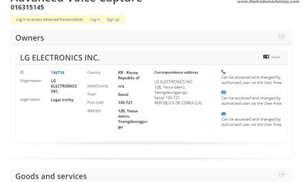 Electonics maker @LGUK applies for AdvancedVoiceCapture trademark for WearableSmartphones