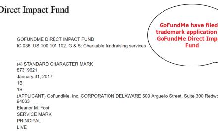 GoFundME file trademark application for DirectImpactFund @GoFundMe GoFundMe