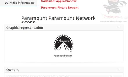 Paramount Pictures applies for an EU Trademakr for Paramount Network @Paramount @paramountpictures ParamountNetwork