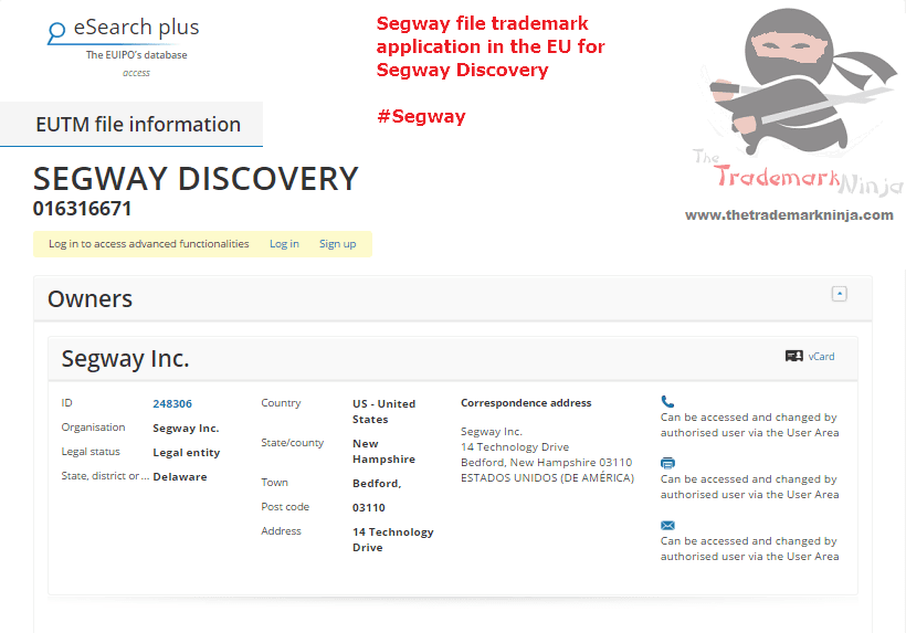 Segway file an EU trademark forSegwayDiscovery <a href=http://twitter.com/Segway target=_blank rel=nofollow data-recalc-dims=1>@Segway</a> Segway