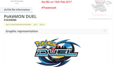 Trademark filed in EU by @Nintendo for @Pokemonduel pokemon duel pokemonduel