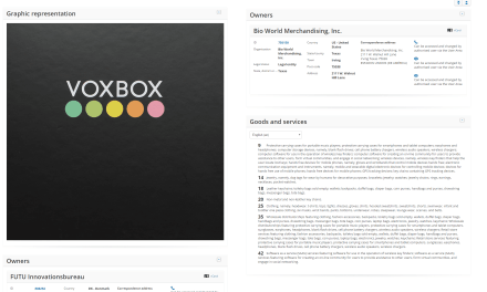 Two VOX trademarks filed in the the EU this week Voxbox Voxpop Voxpro @VoxProGroup