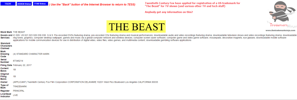 Anybody have any information on TheBeast from <a href=