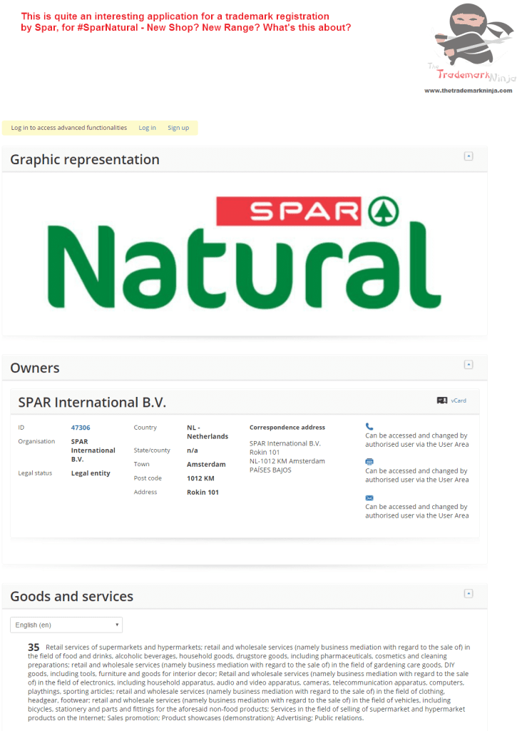 Applicatoin for trademark for SparNatural lodged by <a href=http://twitter.com/Spar target=_blank rel=nofollow data-recalc-dims=1>@Spar</a> Spar