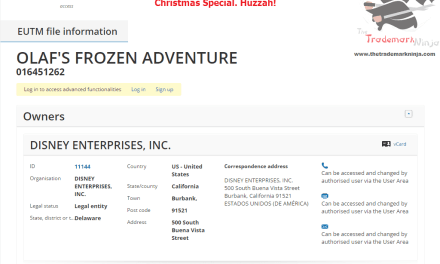 Happy Christmas everybody @Disney has lodged their EU trademark application for OlafsFrozenAdventure Frozen