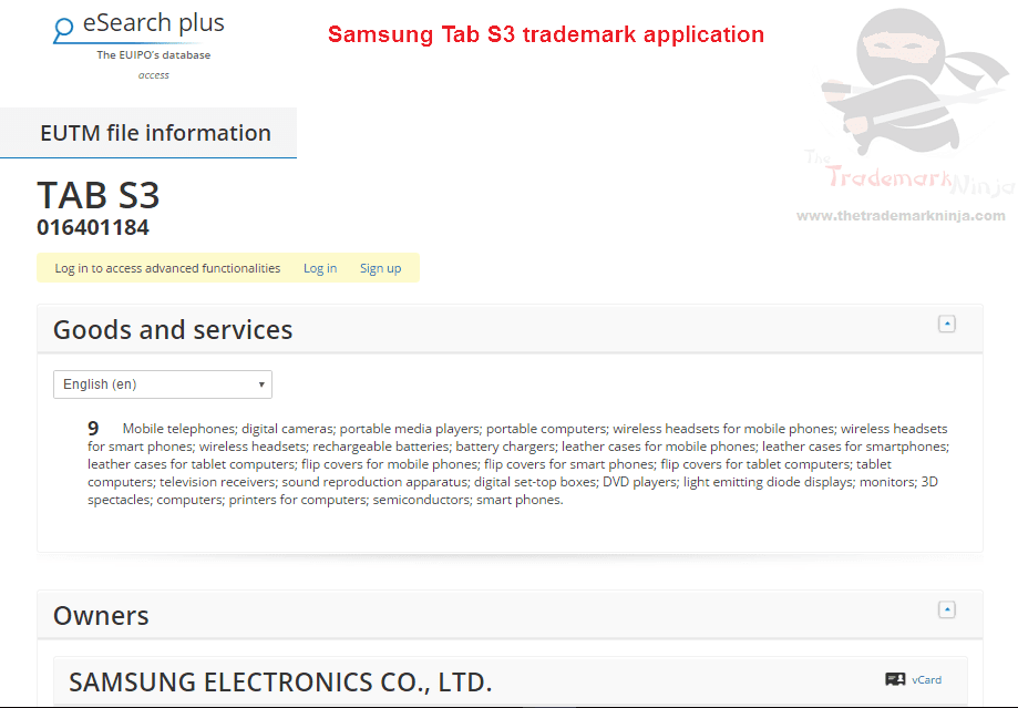 Heres the <a href=http://twitter.com/SamsungUK target=_blank rel=nofollow data-recalc-dims=1>@SamsungUK</a> trademark application for TabS3 S3 Samsung