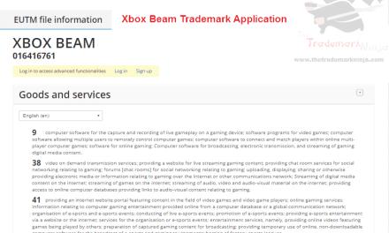 Heres the @microsoft XboxBeam trademark application Beam Xbox