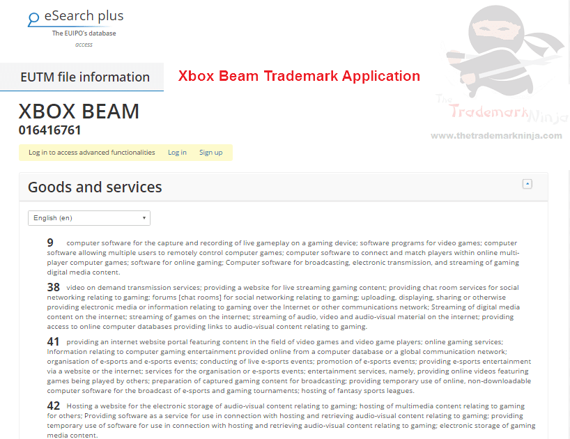Heres the @microsoft XboxBeam trademark application Beam Xbox