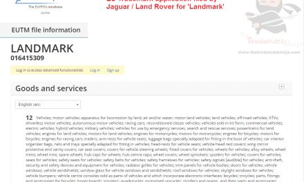 Landmark trademark application filed by @Jaguar @LandRover Landmark