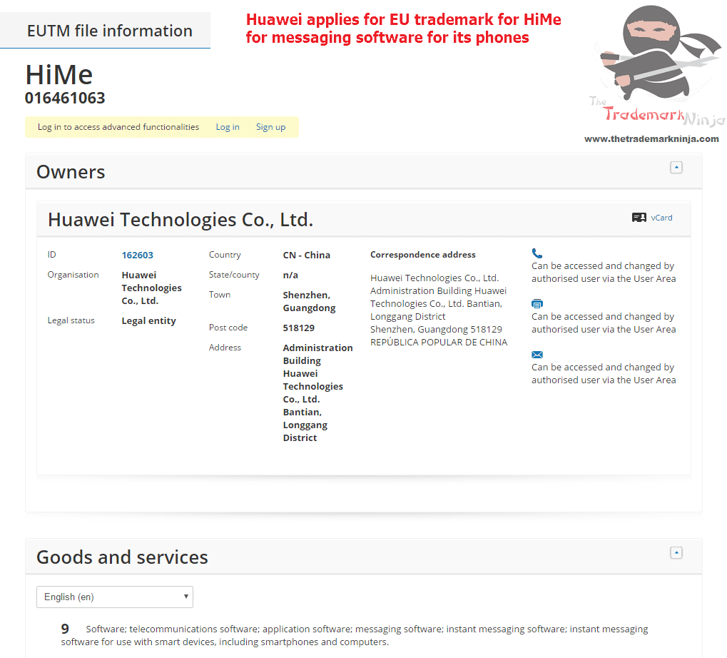 Phone giant <a href=http://twitter.com/huawei target=_blank rel=nofollow data-recalc-dims=1>@huawei</a> applies for an EU Trademark for HiMe Huawei