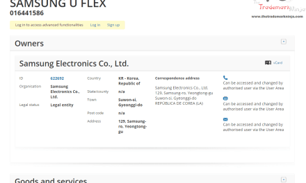 Samsungs EU trademark application for UFlex headphones