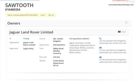 The boys @jaguar @landrover have applied for an EU trademark for Sawtooth Landy Landrover