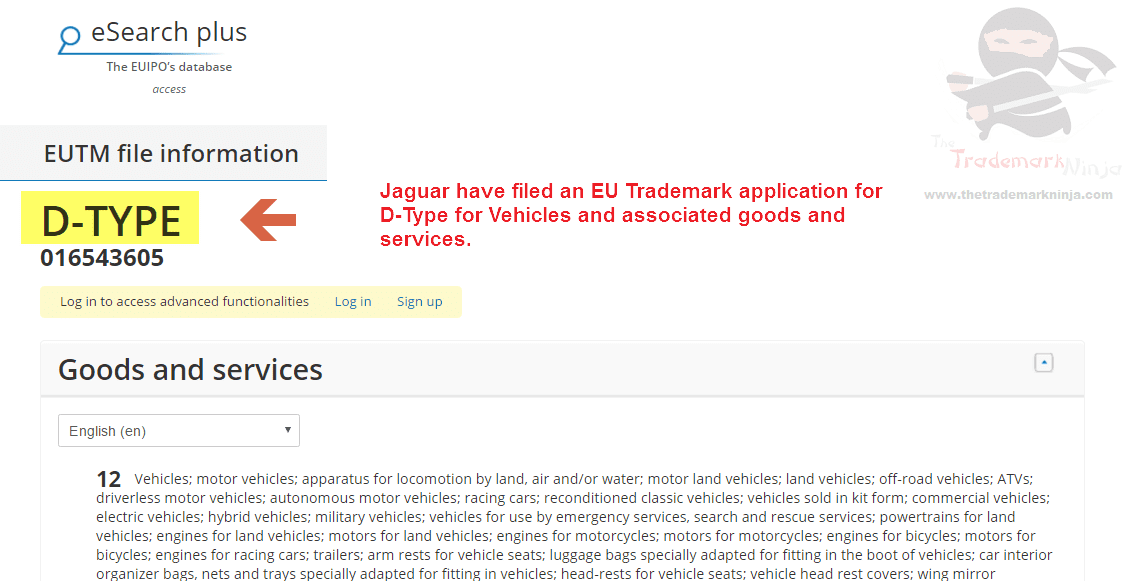 Another @Jaguar trademark application across the EU this time for DType D Type Jag Jaguar