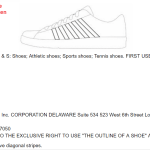 K Swiss files a US Trademark Application It has stripes