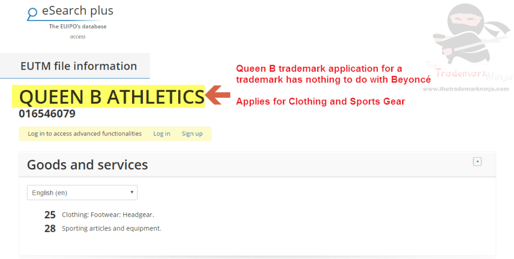 Queen B trademark application has nothing to do with <a href=