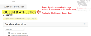 Queen B trademark application has nothing to do with @beyonce QueenB QueenBee Beyonce