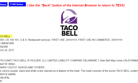 Taco Bell have lodged a new trademark application for the @tacobell logo TacoBell trademark