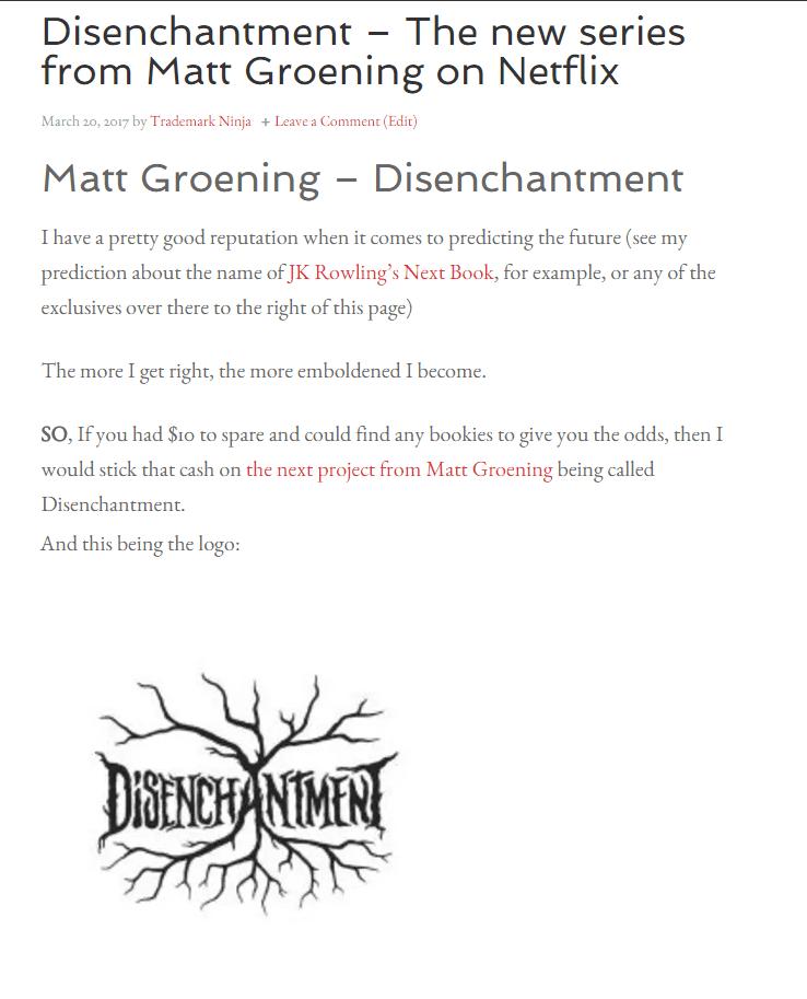 Disenchantment Netflix