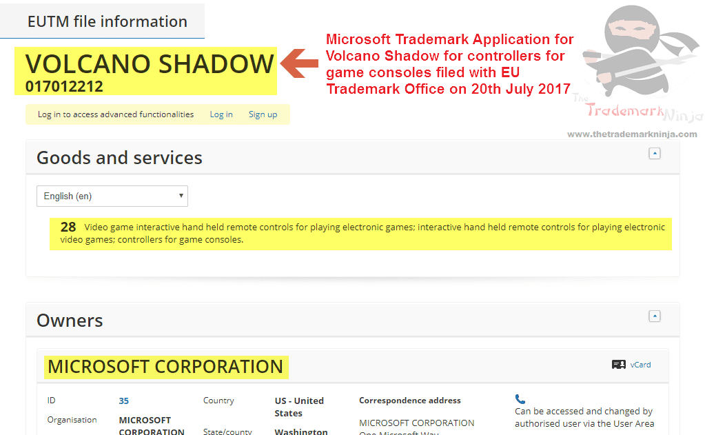 Volcano Shadow Tradeamark Application Filed By Microsoft #MicrosoftVolcano #MicrosoftShadow