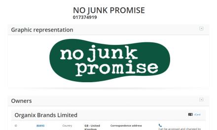 Childrens food brand Organix applies for an EU trademark for No Junk Promise #Organix #Trademarks