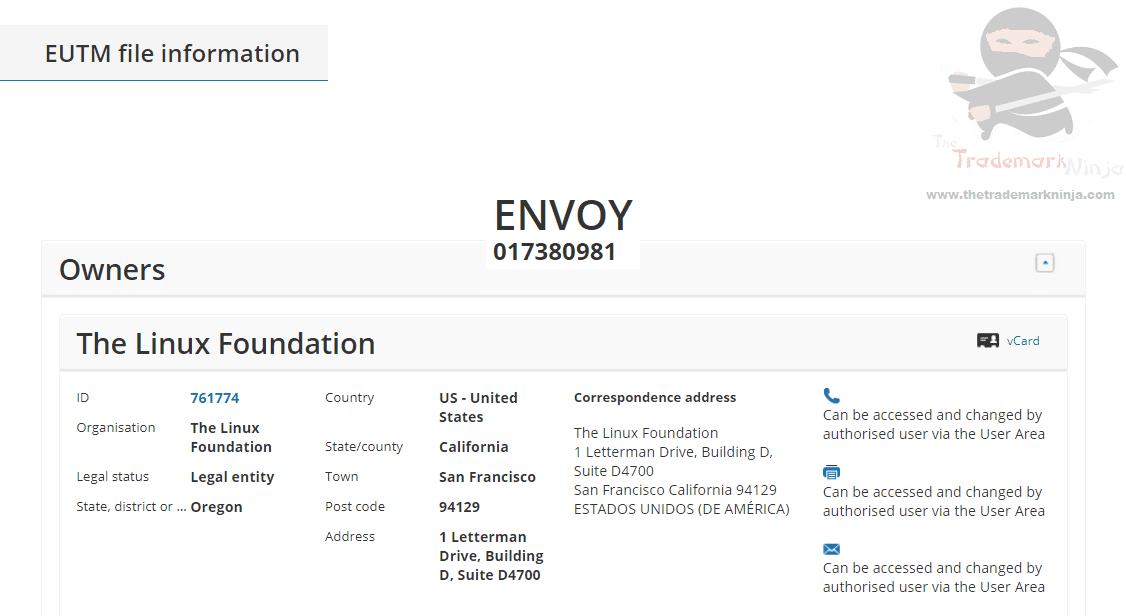 ENVOY – The Linux Foundation applies for #EUTM for Envoy as a trademark in the EU #Linux