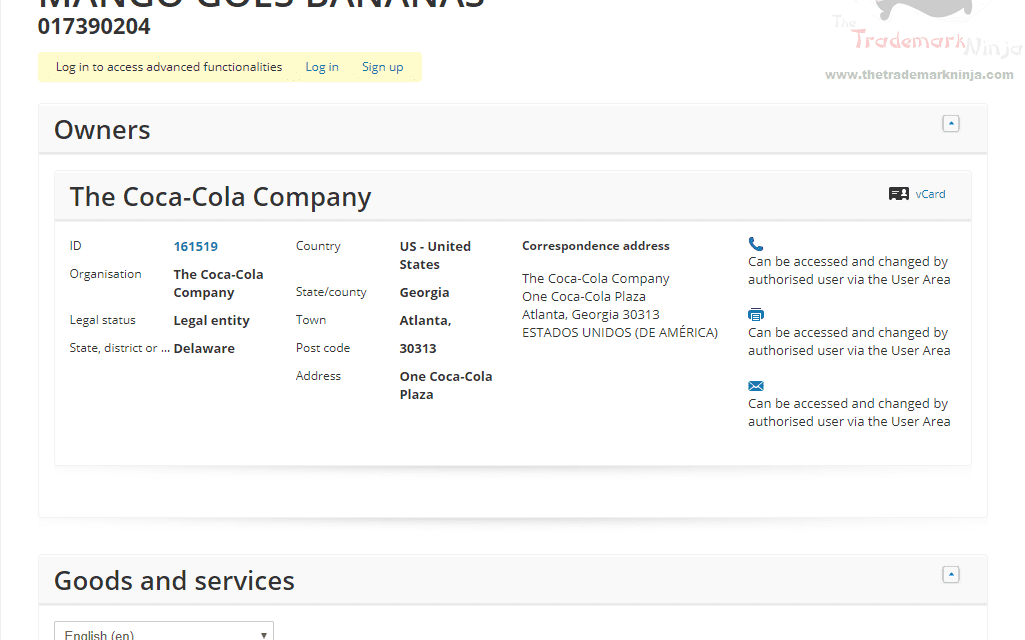 EUTM – Coca Cola applies for EU Trademark for Mango Goes Bananas #Coke #MangoGoesBananas #Trademark