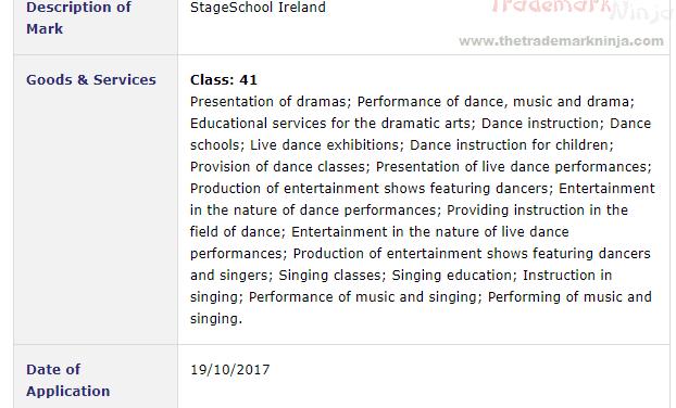 Eyes and Teeth People Eyes and Teeth Trademark Application filed for StageSchoolIreland StageSchool