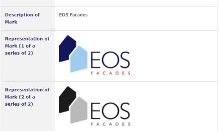 French company applies for Irish Tradmark for #EOSFacades #EOS #TrademarkIreland