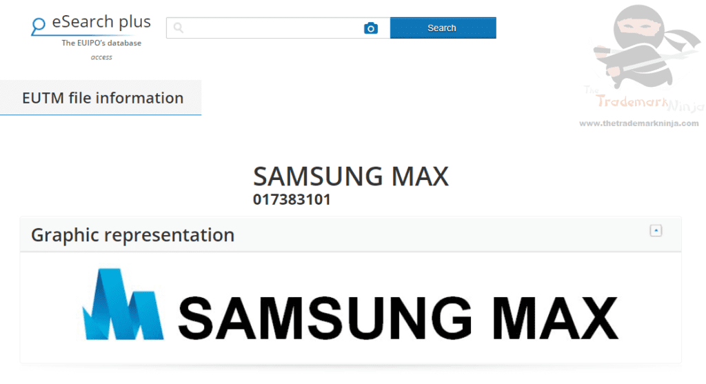 Samsung Max trademark application filed in the EUIPO Samsung SamsungMax Trademark