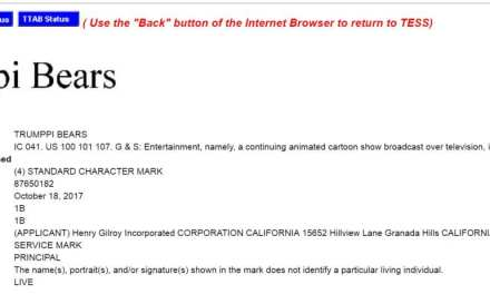 Trumppi Bears Trademark Application – @HGilroy67 what are you up to you scallywag