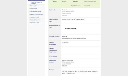 Irish Trademark Application for saniflo