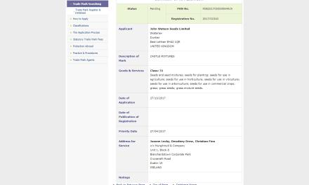 Trademark Ireland Irish Trademark sought for Castle Mixtures for seeds CastleMixture Trademark