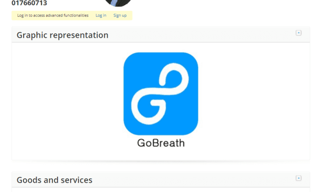 Check out the really interesting list of goods and services Samsung Have Applied for this for GoBreath