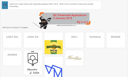 EUTM EU Trademark Applications 9 January 2018 5 of 5
