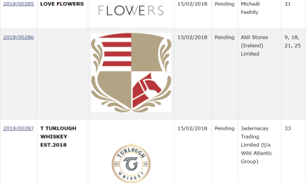 Trademark Ireland Applications for Irish Trademarks filed for LoveFlowers TurloughWhiskey Exspeediate Trademark TM